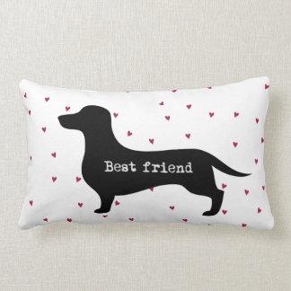 Almofada Lombar Silhueta bonito do dachshund do melhor amigo com