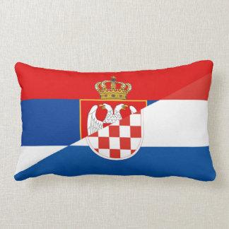 Almofada Lombar símbolo do país da bandeira de serbia croatia meio