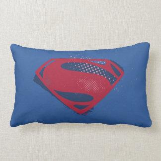 Almofada Lombar Símbolo do superman da escova & da reticulação da