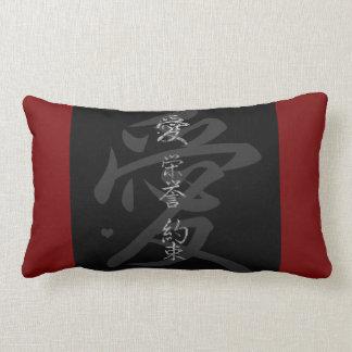 Almofada Lombar Símbolo japonês: Promessa da honra do amor