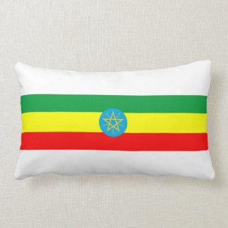 Almofada Lombar símbolo longo da bandeira de país de Etiópia
