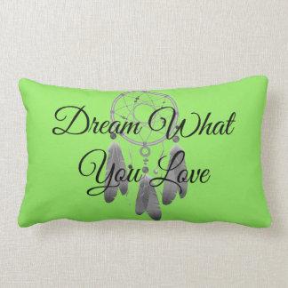 Almofada Lombar Sonho o que você ama o travesseiro decorativo