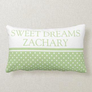 Almofada Lombar Sonhos doces das bolinhas verdes e brancas da
