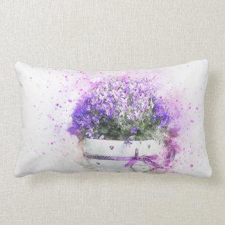 Almofada Lombar Splatter da pintura do flowerpot das flores da