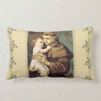 Almofada Lombar St Anthony de Pádua com bebê Jesus