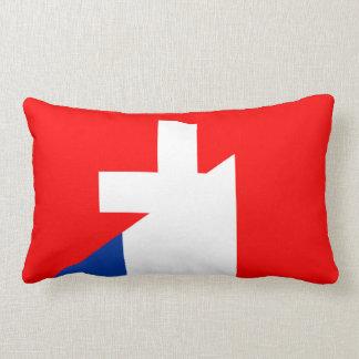 Almofada Lombar suíço do símbolo do país da bandeira de france da