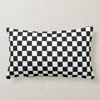 Almofada Lombar Tabuleiro de damas preto e branco