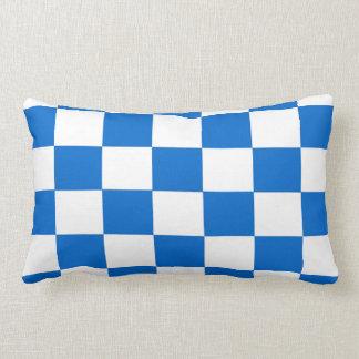 Almofada Lombar Tabuleiros de damas azuis e brancos