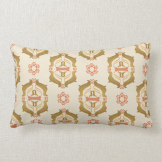 Almofada Lombar Teste padrão barroco real do amante do cão do