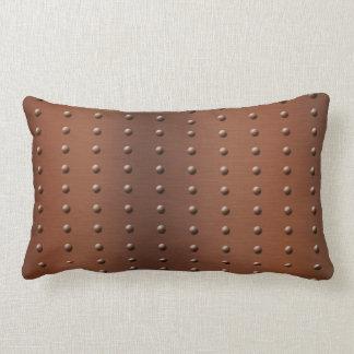 Almofada Lombar Teste padrão de cobre escovado enchido Digitas do