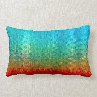 Almofada Lombar Teste padrão do abstrato do chique do arco-íris da