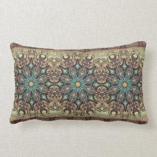 Almofada Lombar Teste padrão floral étnico abstrato colorido da