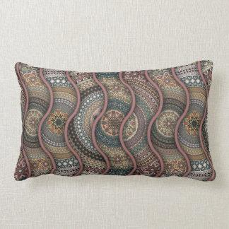 Almofada Lombar Teste padrão floral étnico abstrato colorido de da