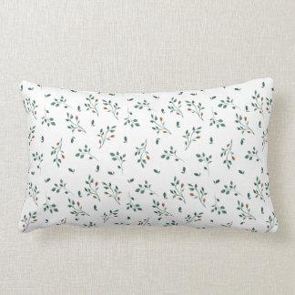 Almofada Lombar Teste padrão floral verde branco delicado