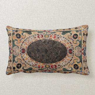 Almofada Lombar Teste padrão italiano ornamentado do mármore do