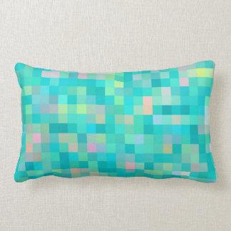 Almofada Lombar Teste padrão multicolorido da arte do pixel
