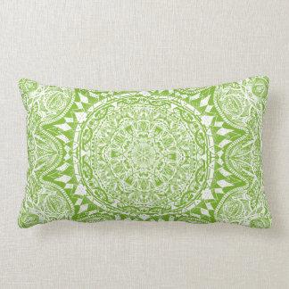 Almofada Lombar Teste padrão verde da mandala
