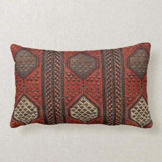 Almofada Lombar Teste padrão vermelho oriental do corredor