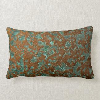 Almofada Lombar Textura de cobre corrmoída oxidada do Patina do