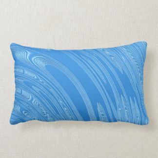 Almofada Lombar textura metálica azul abstrata