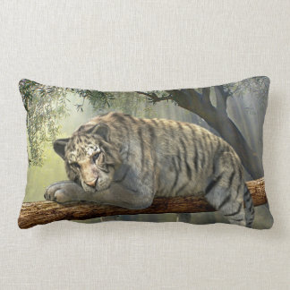 Almofada Lombar Tigre branco que refrigera no travesseiro da selva