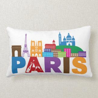 Almofada Lombar Tipografia colorida de Paris, France  