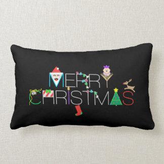 Almofada Lombar Tipografia do Feliz Natal