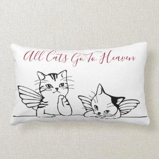 Almofada Lombar Todos os gatos vão ao travesseiro do céu para