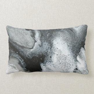 Almofada Lombar Travesseiro abstrato preto & do branco do acento