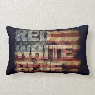 Almofada Lombar Travesseiro azul branco vermelho