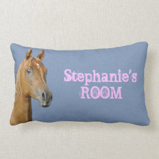 Almofada Lombar Travesseiro azul personalizado do cavalo da cor da