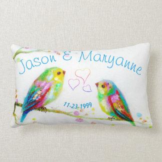Almofada Lombar Travesseiro colorido do casamento do nome do casal