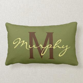 Almofada Lombar Travesseiro conhecido do acento de Kahki da verde