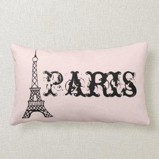 Almofada Lombar Travesseiro cor-de-rosa da torre Eiffel de Paris