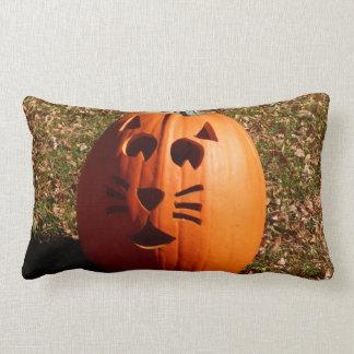Almofada Lombar Travesseiro da abóbora da cara do gato