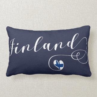 Almofada Lombar Travesseiro de Finlandia do coração, finlandês,