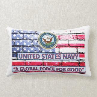 """Almofada Lombar Travesseiro decorativo 13"""" do marinho da bandeira"""
