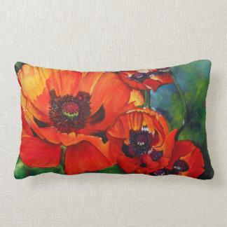 Almofada Lombar Travesseiro decorativo alaranjado da pintura da
