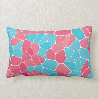 Almofada Lombar Travesseiro decorativo azul e cor-de-rosa do