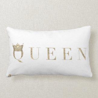 Almofada Lombar Travesseiro decorativo branco da rainha
