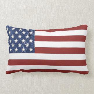 Almofada Lombar Travesseiro decorativo da bandeira americana