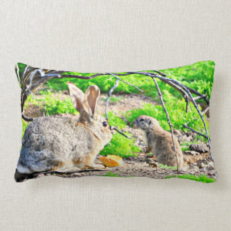 Almofada Lombar Travesseiro decorativo do acento do coelho e do