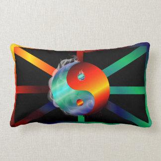 Almofada Lombar Travesseiro decorativo do fogo & do gelo