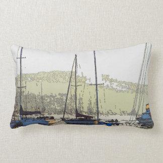 Almofada Lombar Travesseiro decorativo enevoado da manhã do oceano