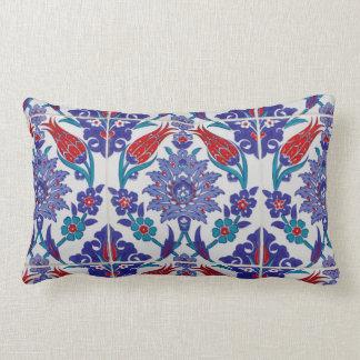 Almofada Lombar Travesseiro decorativo marroquino azul do azulejo
