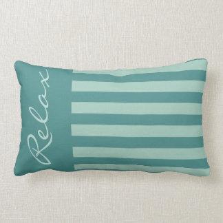Almofada Lombar Travesseiro decorativo parcialmente listrado