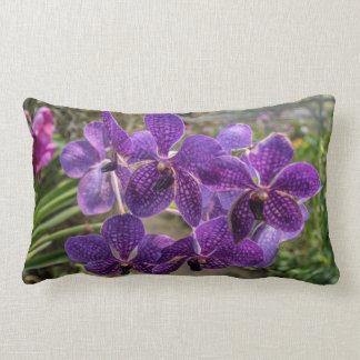 Almofada Lombar Travesseiro decorativo roxo da orquídea