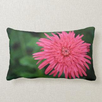 Almofada Lombar Travesseiro decorativo verde com uma flor