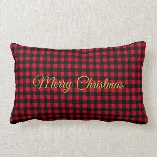 Almofada Lombar Travesseiro decorativo vermelho da festa natalícia