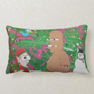 Almofada Lombar Travesseiro do duende do Yeti do Natal